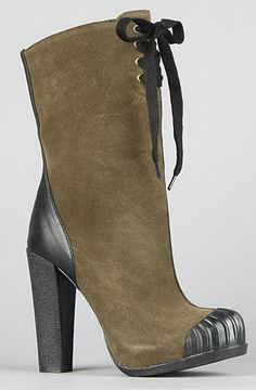 The Adelia Boot in Forest Green