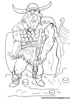 Viking coloring pages | Viking warrior coloring page for free-Denmark