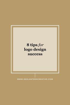 8 Tips For Logo Design Success