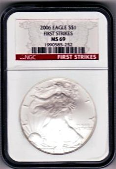 NGC CERTIFIED FIRST STRIKE MS69  AMERICAN SILVER EAGLE,RARE HARD TO FIND AT ANY PRICE