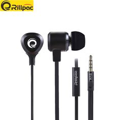 Rillpac R1S Metal Earphones 3.5mm Noise Reduction earphone Stereo Super Bass earbuds Sport Running Earphones With Mic