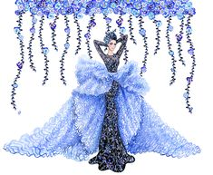 Couture glamour continues... Inspired by Ralph and Russo couture   Illustration by Sunny Gu   Get updates from Facebook  Twitt...