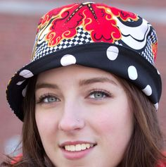 Reversible Bucket Hat | Women's Summer Sun Hat | Reversible Cloche | Floral and Polka Dots