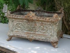 Rectangular French Planter!!!  Such a treasure:) This would make a beautiful floral arrangement.