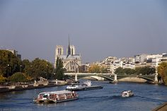 Seine seen from Pont d'Austerlitz, Paris, France.