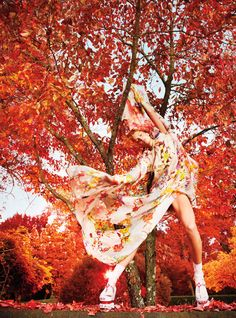 Daria Werbowy is Heaven on Earth for W Magazine's January Issue by Ryan McGinley | Fashion Gone Rogue: The Latest in Editorials and Campaigns