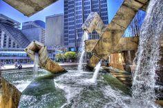 Contemporary Water Fountains Reinventing the Timeless Design - Vaillancourt Fountain by Armand Vaillancourt in San Francisco, California Modern Fountain, Fountain Design, Quebec, Osaka, Armand Vaillancourt, Colorado Springs, Montreal, Dubai, Las Vegas