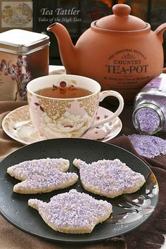 Lavender Sugar Cookies with Amethyst Shimmer | Tea Tattler