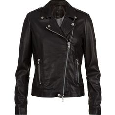 Set Leather Biker Jacket (306.040 CLP) ❤ liked on Polyvore featuring outerwear, jackets, coats, coats & jackets, tops, motorcycle jacket, rider leather jacket, studded jackets, leather moto jackets and studded biker jacket