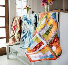 Who knew simple strips, rectangles and squares could create a quilt top that will make you want to stop and stare? Bring this Slide Rule Quilt Kit to life by using the included pattern and Tonga Tr...