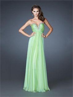 Chic Strapless Sweetheart Beaded Empire Waist Ruched Chiffon Prom Dress PD11318 www.dresseshouse.co.uk $118.0000