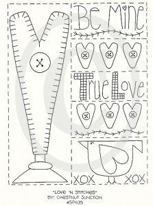 Free prim Sampler Patterns | Stitches primitive stitchery pattern, e pattern, epattern, e-pattern ...