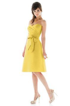 yellow bridesmaid dresses #bridesmaiddress #yellowwedding