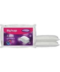 Slumberdown Big Hug Pillows - 2 Pack.