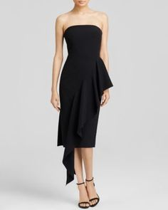 MILLY Strapless Cascade Dress | Bloomingdale's