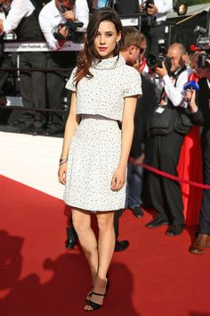 The New Class:  The always fashionable Franco-Spanish actress Àstrid Bergès-Frisbey continued to delight in coquettish Chanel Haute Couture.