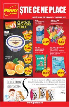 Catalog Penny Market 01 - 07 Noiembrie 2017! Oferte si recomandari: portocale plasa 2 kg 7.84 lei; set husa de pat cu 2 fete perna 29,99 lei