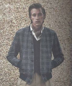 Richard James SS16 blue five-stripe check bomber jacket in issue 7 of Article