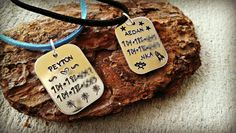Kids Safety Necklace  Personalized Necklace  by SweetAspenJewels, $22.00
