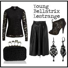 """Young Bellatrix Lestrange"" by jefnier on Polyvore"