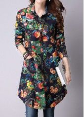 Pocket Button Up Flower Print Shirt. Pocket Button Up Flower Print Shirt. Stylish Tops For Girls, Trendy Tops For Women, Blouses For Women, Women's Blouses, Modele Hijab, Latest Fashion For Women, Womens Fashion, Cheap Fashion, Fashion Trends