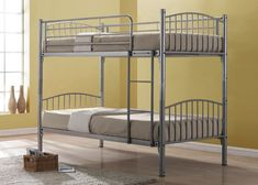 Kids Metal Bunk Beds - For more Awesome Bunk Bed Ideas take a look at HomeIZY.com!