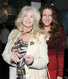 """Connie Stevens and Joely Fisher Photos Photos: L'Oreal Paris & Sherry Lansing Honor David O. Russell And """"The Fighter"""" With A Special Valentine's Day Luncheon Mom Daughter, Daughters, Eddie Fisher, Carrie Fisher, Joely Fisher, Connie Stevens, Famous Women, Famous People"""