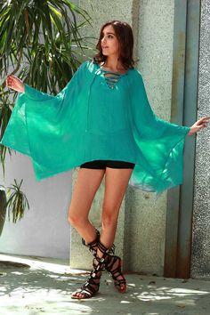 Solid Color V-Neck Long Sleeve Loose Dress