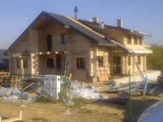 Novadomi.com | Location: Poland. An awesome single family house build with US imported logs!