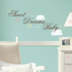 Have to have it. Sweet Dreams Baby Peel and Stick Wall Decals - $15.99 @hayneedle.com