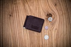 Brown Leather Clip Wallet Cash wallet Leather от OldOnLeather