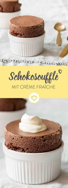 Klassisches Schokoladensoufflé Easier than expected, such a chocolate soufflé. Many ingredients are not needed either. So what are you waiting for? Ran to the Souffléförmchen! Easy Cookie Recipes, Sweet Recipes, Cake Recipes, Dessert Recipes, Health Desserts, No Bake Desserts, Chocolate Sin Gluten, Chocolate Cookies, Crazy Cakes