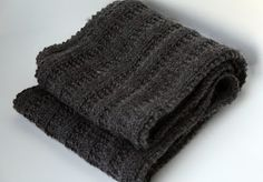 The Fuzzy Square: Versatile Rib Scarf Pattern