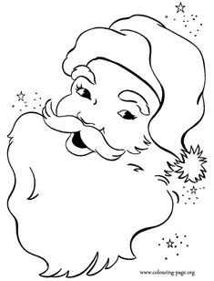 Have fun with this amazing coloring page of a happy Santa Claus face! Just print it! Merry Christmas!
