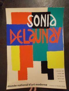 Sonia DELAUNAY affiche exposition musée d'art moderne, 1967-1968