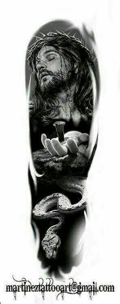 religious Tattoo idea https Neue Tattoos, Bild Tattoos, Body Art Tattoos, Sleeve Tattoos, Cool Tattoos, Religion Tattoos, Christus Tattoo, Totenkopf Tattoos, Christian Tattoos