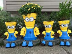 Photo only, no link. For inspiration minions pot people