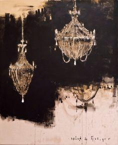 1stdibs.com - Fine Art - Painting | Piero Pizzi Cannella - Salon de Musique