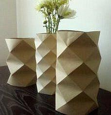 origami vase covers
