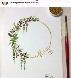 Wreath Watercolor, Watercolor Flowers, Simple Watercolor, Tattoo Watercolor, Watercolor Animals, Watercolor Background, Watercolor Landscape, Abstract Watercolor, Watercolor Illustration