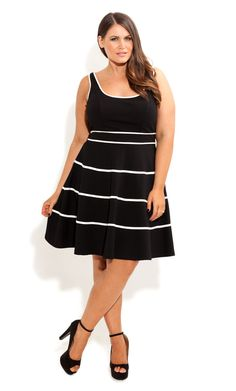 City Chic - Swing Skater Dress - OneStopPlus.com