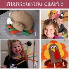 Thanksgiving crafts with the kids