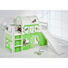 Fantastisch Hochbett Mit Rutsche Weiß PFERD   High Bed With Slide Horses #lilokids  #highbed #