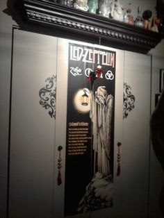 Led Zeppelin makes laundry doors look a little less tacky. Above: partial view of the world's most tasteless ceramics.