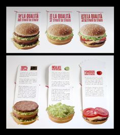 McDonald's, Pick, hamburger, folleto, brochure, diseño, diseño editorial, design.