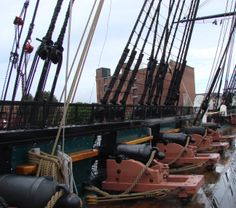 """USS Constitution.....""""skylights"""" to the deck above. 