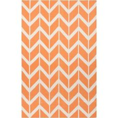 Surya Jill Rosenwald Papaya 5 ft. x 8 ft. Flatweave Area Rug - FAL1081-58 at The Home Depot $369