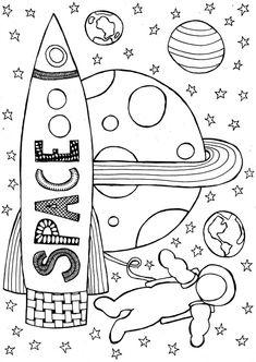 ruimte, marsmannetje, maanmannetje, ruimtevaarder Space Activities For Kids, Doodles Zentangles, Back To The Future, Fauna, Homeschool, Snoopy, Classroom, Symbols, Concept