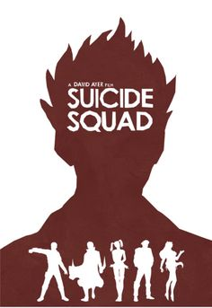 Suicide Squad (2016) ~ Minimal Movie Poster by Lewis Dowsett #amusementphile