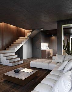 43 Contemporary Modern Interior Design For Your Home Design - FashDeco Modern Apartment Design, Contemporary Apartment, Modern House Design, Modern Interior Design, Interior Design Inspiration, Interior Ideas, Modern Houses, Design Ideas, Interior Designing